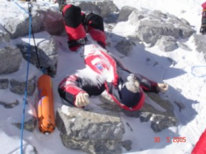 One of hundreds of dead bodies that litter the slopes of Mt. Everest